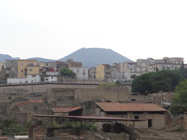 Vesuvius alive and well and overlooking Ercolano