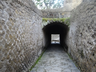 One of the tunnels to the beach